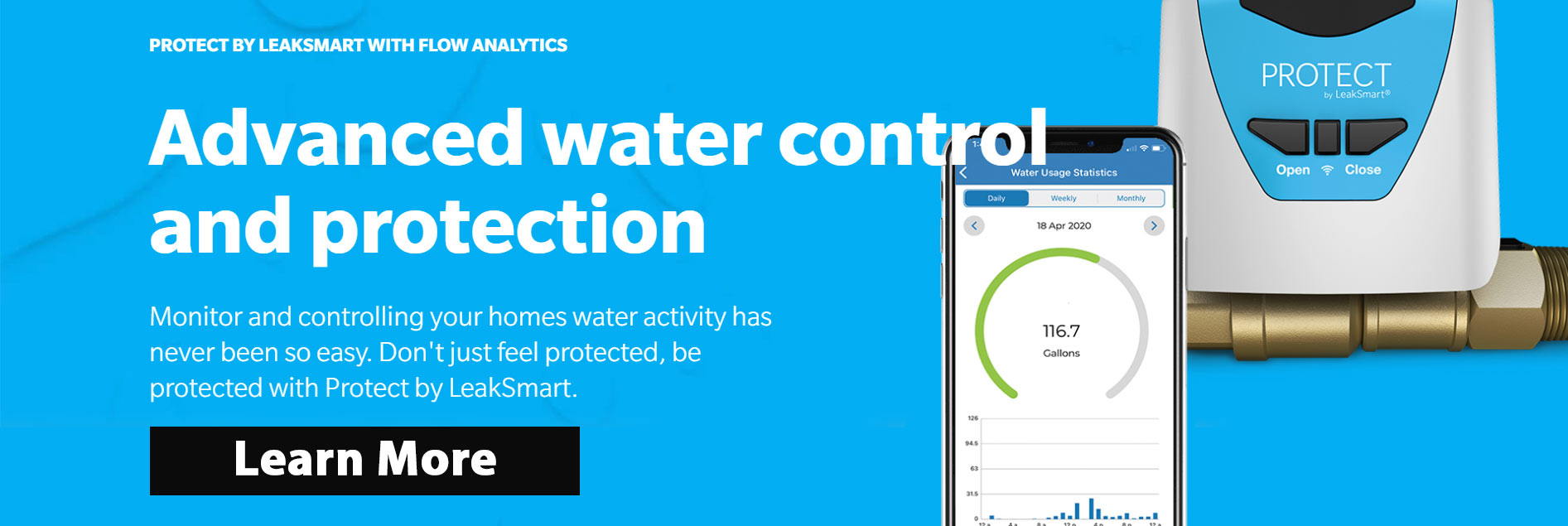 smart leak water control protection system